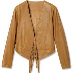 derek lam 10 crosby fringed leather jacket